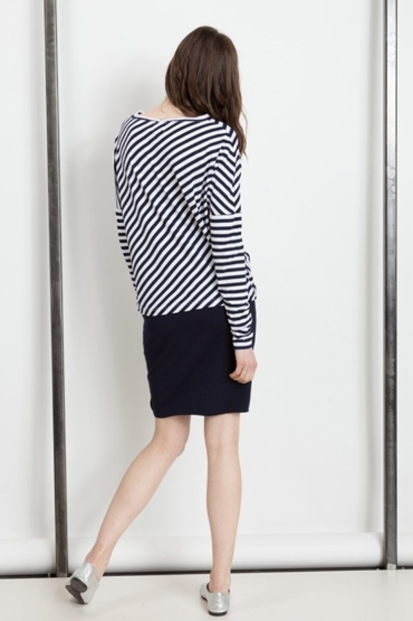 Bluzka Lee navy - white